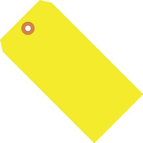 Shipping Tags Fluorescent Yellow 3 3/4 inch x 1 7/8 inch (1000 Per/Pack)