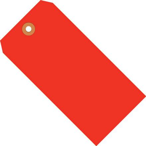 Shipping Tags Fluorescent Red 4 3/4 inch x 2 3/8 inch (1000 Per/Pack)