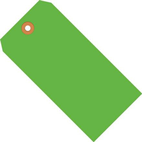 Shipping Tags Fluorescent Green 6 14 inch x 3 1/8 inch (1000 Per/Pack)