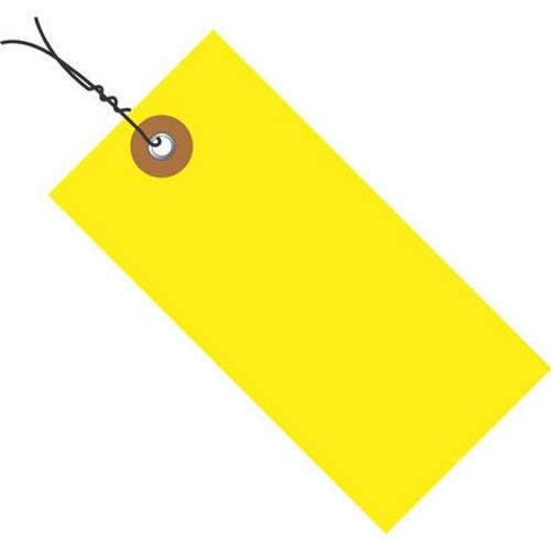 Tyvek® Pre-Wired Yellow Shipping Tags 3 3/4 inch x 1 7/8 inch (100 Per/Pack)
