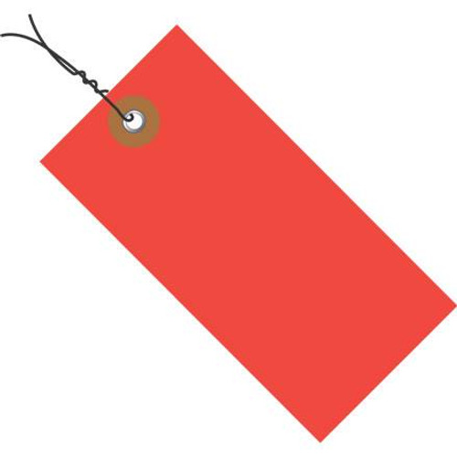 Tyvek® Pre-Wired Red Shipping Tags 4 1/4 inch x 2 1/8 inch (100 Per/Pack)