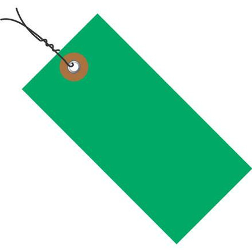 Tyvek® Pre-Wired Green Shipping Tags 6 1/4 inch x 3 1/8 inch (100 Per/Pack)