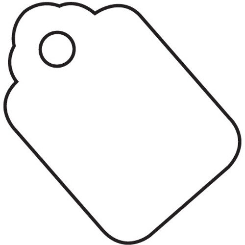 Merchandise Tags - White 1 1/8 inch x 1 3/4 inch (1000 Per/Pack)