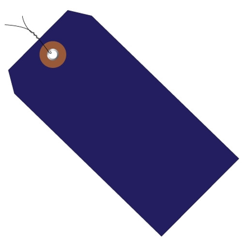 Plastic Pre-Wired Shipping Tags Blue 4 3/4 inch x 2 3/8 inch (100 Per/Pack)