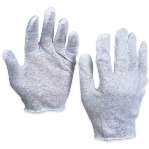 Cotton Inspection Gloves 2.5 oz. - Large (12 Pairs)