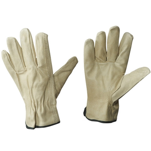 Pigskin Leather Drivers Gloves - Large (3 Pairs)