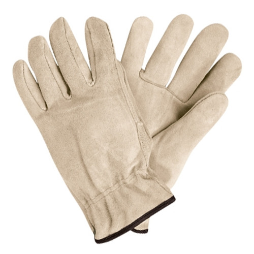 Deluxe Cowhide Leather Drivers Gloves - Medium (3 Pairs)