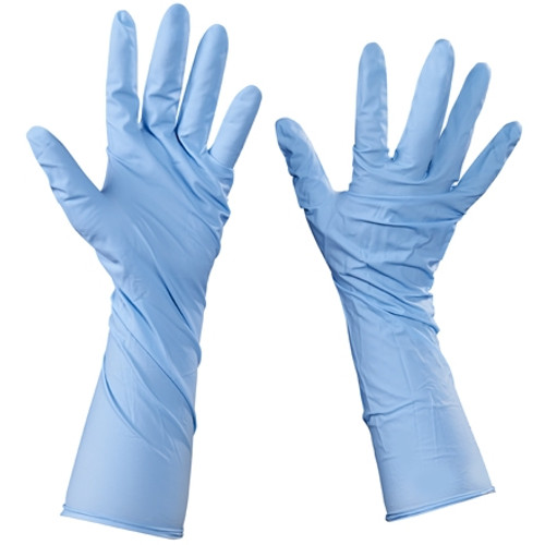Industrial Grade Nitrile Gloves 6 Mil w/Extended Cuffs - X Large (50 Gloves)