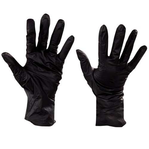 Industrial Grade Nitrile Gloves 6 Mil w/Beaded Cuffs - X Large (100 Gloves)
