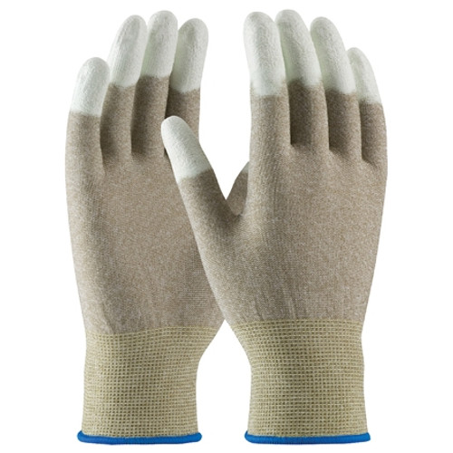 ESD Fingertip Coated Nylon Gloves - Small (12 Pairs)