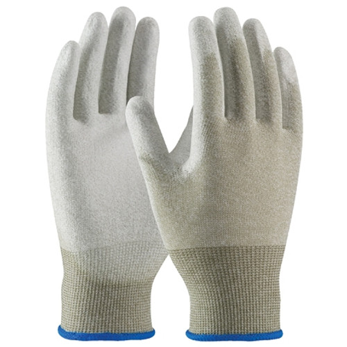 ESD Palm Coated Nylon Gloves - Small (12 Pairs)