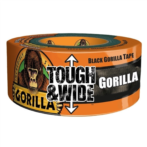 Black Gorilla Tape Tough and Wide 2.88 inch x 30 yard Roll
