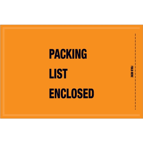 Mil-Spec  inchPacking List Enclosed inch Envelopes 5 1/4 inch x 8 inch (1000 Pack)