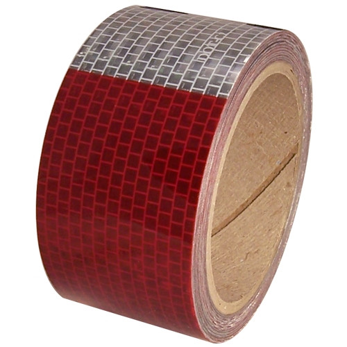 DOT-C2 2 inch x 30 ft 3 Year Conspicuity Tape 11 inch Red 7 inch White