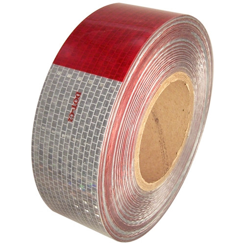 DOT-C2 2 inch x 50 yard 7 Year Conspicuity Tape 11 inch Red 7 inch White