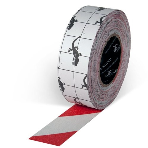 Gator Grip Premium Red/White Non-Skid Tape 2 inch x 20 yard Roll