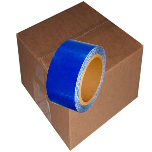 Blue Super Bright High Intensity Reflective Tape 2 inch x 30 ft Roll (12 Roll/Pack)