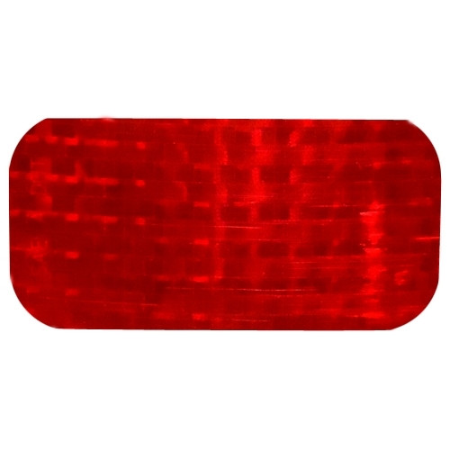 Red Lens Reflectors 2 inch x 3-1/2 inch (50 Pack)