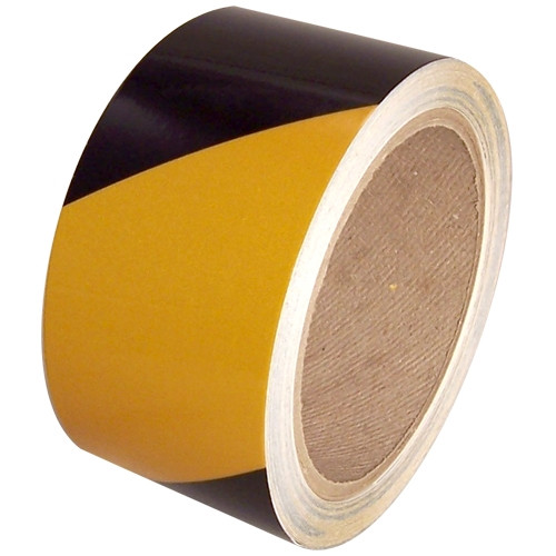 Yellow/Black Hazard Safety Reflective Tape 2 inch x 30 ft Roll