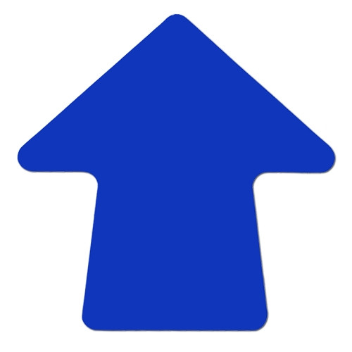 Blue 4 inch Stick-On Colored Vinyl Directional Arrows (100 per/Roll)