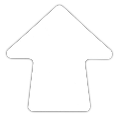 White 4 inch Stick-On Colored Vinyl Directional Arrows (100 per/Roll)