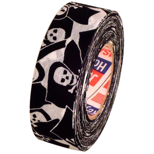 Cloth Hockey Stick Tape Jolly Rodger Skull and Bones 1 inch x 20 yard Roll