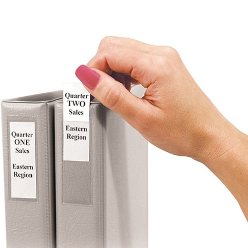 Binder Top Loading Self-Adhesive Label Holders 1 inch x 2 13/16 inch (60 Per/Pack)