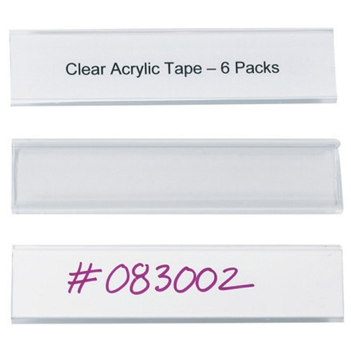 Wire-Rac Snap-On Label Holders 6 inch x 1 5/16 inch (25 Per/Pack)