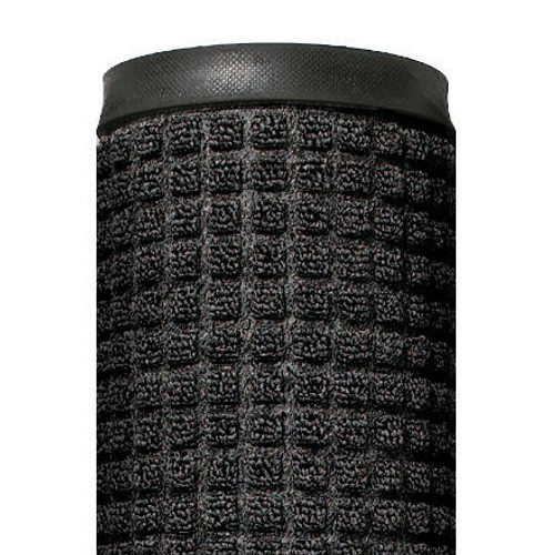 Deluxe Rubber Backed Carpet Mat Charcoal 4 ft x 6 ft x 1/4 inch