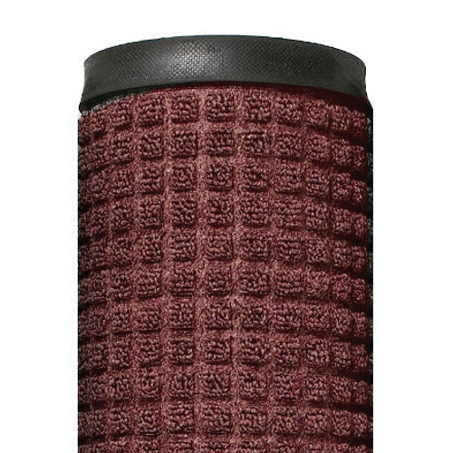 Deluxe Rubber Backed Carpet Mat Red/Black 4 ft x 10 ft x 1/4 inch
