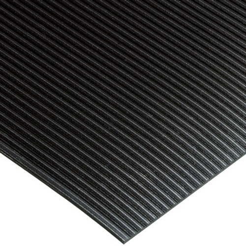 Black Corrugated Rib Runners 2 ft x 105 ft x 1/8 inch