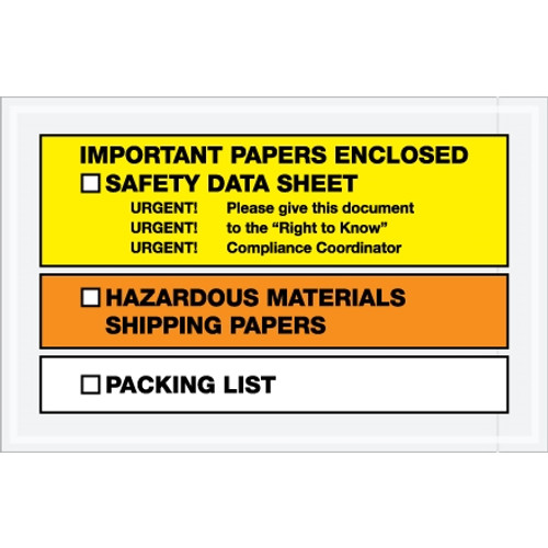 inchImportant Papers Enclosed inch SDS Envelopes 6 1/2 inch x 10 inch (1000 Pack)