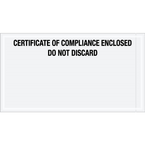 inchCertificate of Compliance Enclosed inch Transportation Envelopes 6 inch x 11 inch (1000 Pack)