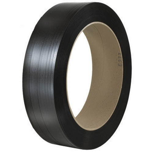 Polyester Strapping Black  1/2 inch x 5800 ft Roll on 16 inch x 6 inch Core