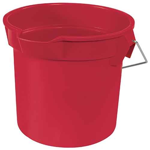 Rubbermaid Utility Bucket with Spout 14 Quart Red