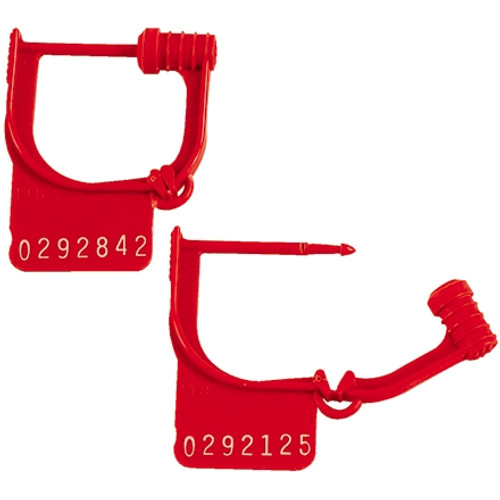 Easy Lock Seals Red 15/16 inch (1000 Per/Pack)