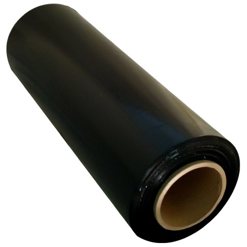Black Hand Stretch Film 18 inch x 80 Gauge x 1500 ft Roll (4 Roll/Pack)