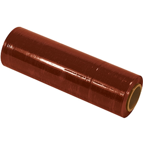 Cast Hand Stretch Film Red 18 inch x 80 Gauge x 1500 ft Roll (4 Roll/Pack)