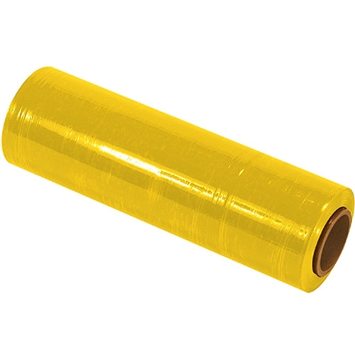 Cast Hand Stretch Film Yellow 18 inch x 80 Gauge x 1500 ft Roll (4 Roll/Pack)