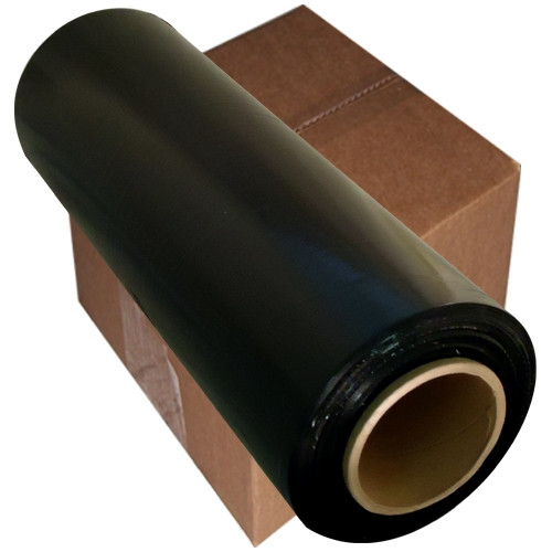 Black Hand Wrap Stretch Film SBW-100 15 inch x 1000 ft 100 Gauge (4 Roll/Pack)