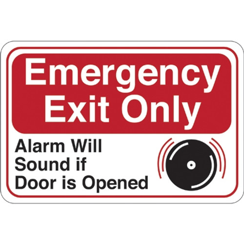 Facility Sign 6 inch x 9 inch - Emergency Exit Only...