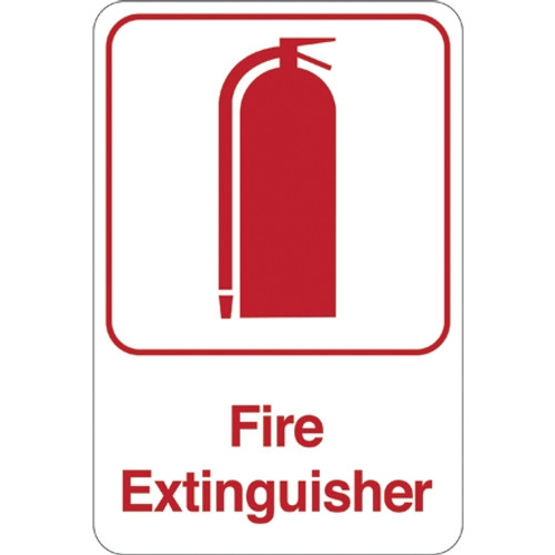 Facility Sign 9 inch x 6 inch - Fire Extinguisher