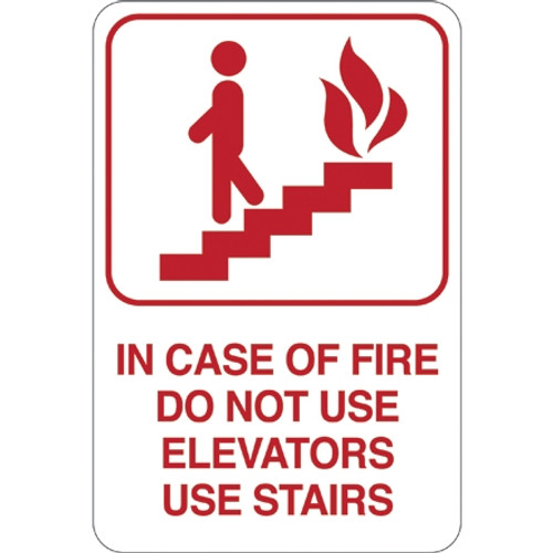 Facility Sign 9 inch x 6 inch - IN Pack OF FIRE...