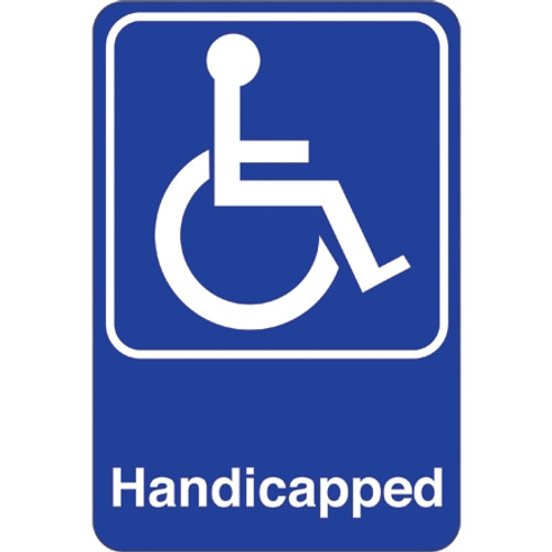 Facility Sign 9 inch x 6 inch - Handicapped