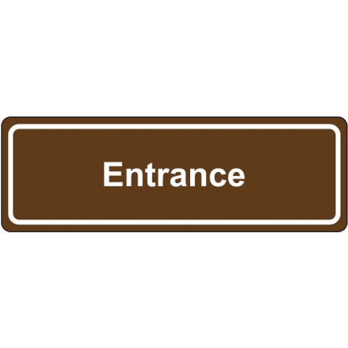 Door Sign 3 inch x 9 inch - Entrance