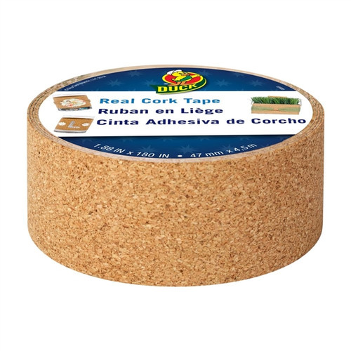 Real Cork Tape Duck Brand 1.88 inch x 180 inch Roll