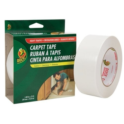 Duck brand Heavy Traffic Indoor Double-Sided Carpet Tape 1.88 inch x 75 ft Roll