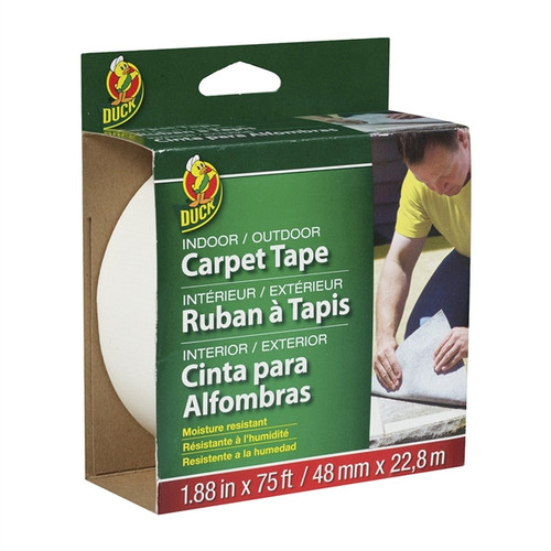 Duck brand Indoor/Outdoor Double-Sided Carpet Tape 1.88 inch x 75 ft Roll
