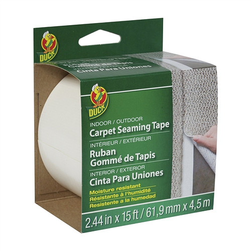 Duck Brand 442063 Indoor/Outdoor Carpet Steaming Tape - White, 2.44 in. x 15 ft. Roll