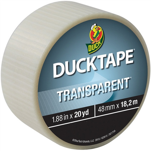 Clear Duck Tape Brand Duct Tape Transparent 1.88 inch x 20 yard Roll